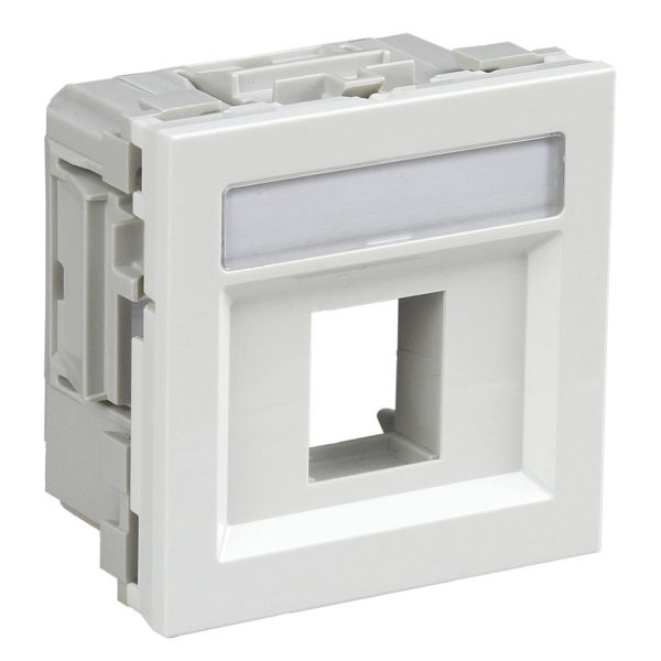 Schneider Electric INS64200 Multimedialokk hvit, termoplast Hvit