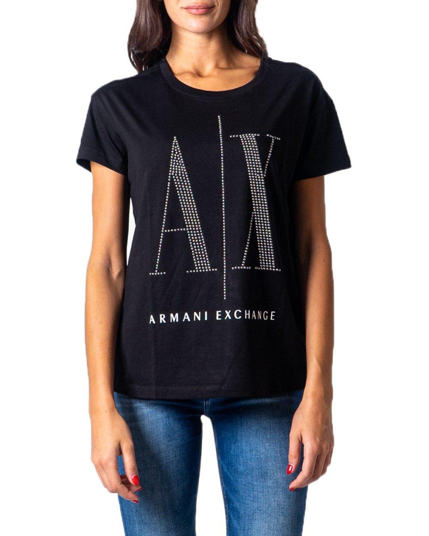 Armani Exchange Women's T-Shirt Various Colours 177020 - black XS