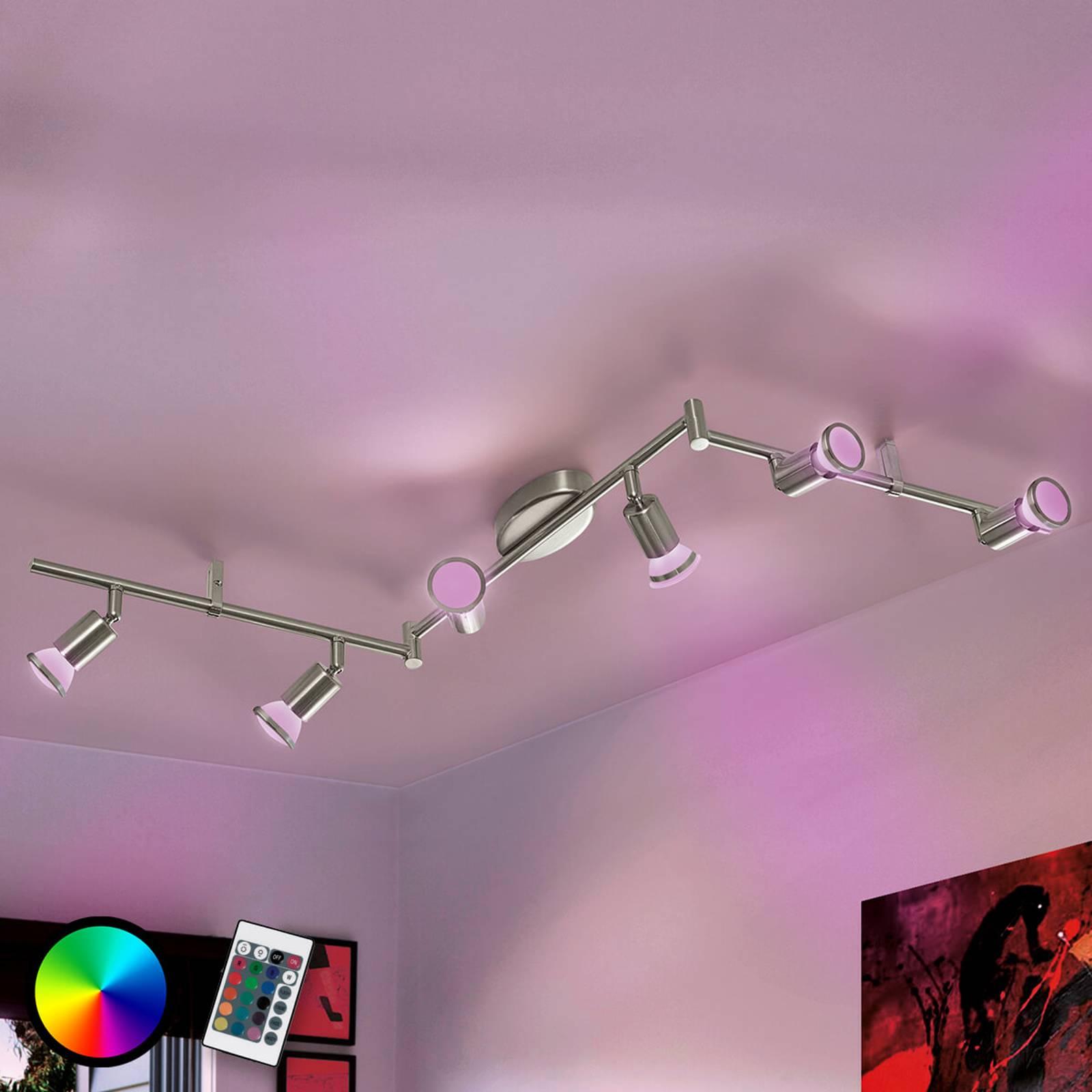 Taivutettu Buzz-C-kattovalaisin, LED RGBW