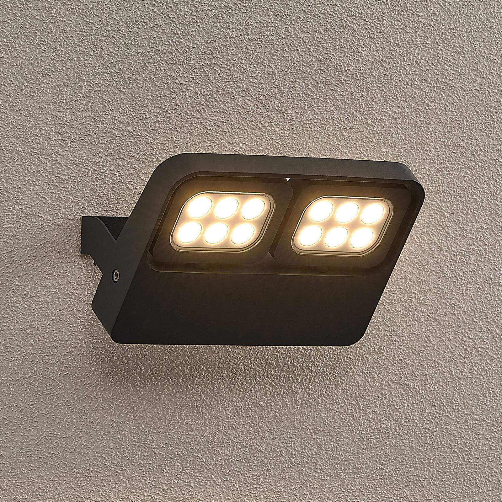 Lucande Kyrilo -LED-ulkokohdevalo, 12 LEDiä