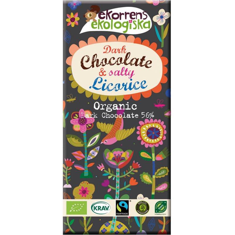 "Mörk Choklad ""Salty Licorice"" 85g - 80% rabatt"