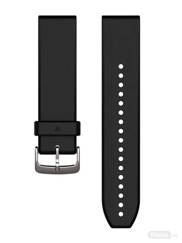 Garmin QuickFit 22mm Klockarmband, svart/silverfärgad silikon 010-12500-00