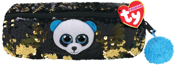 Ty Plush - Sequin Pencil Case - Bamboo the Panda (TY95855)