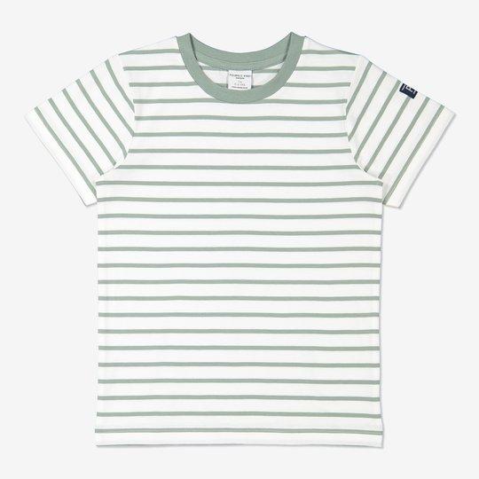 Stripet T-skjorte grønn