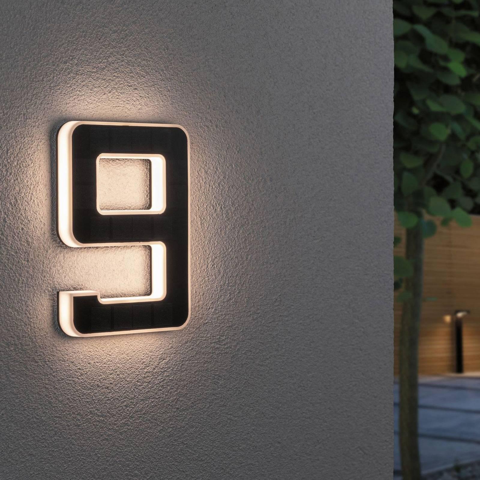 Paulmann aurinkokäyttöinen LED-talonnumero 9