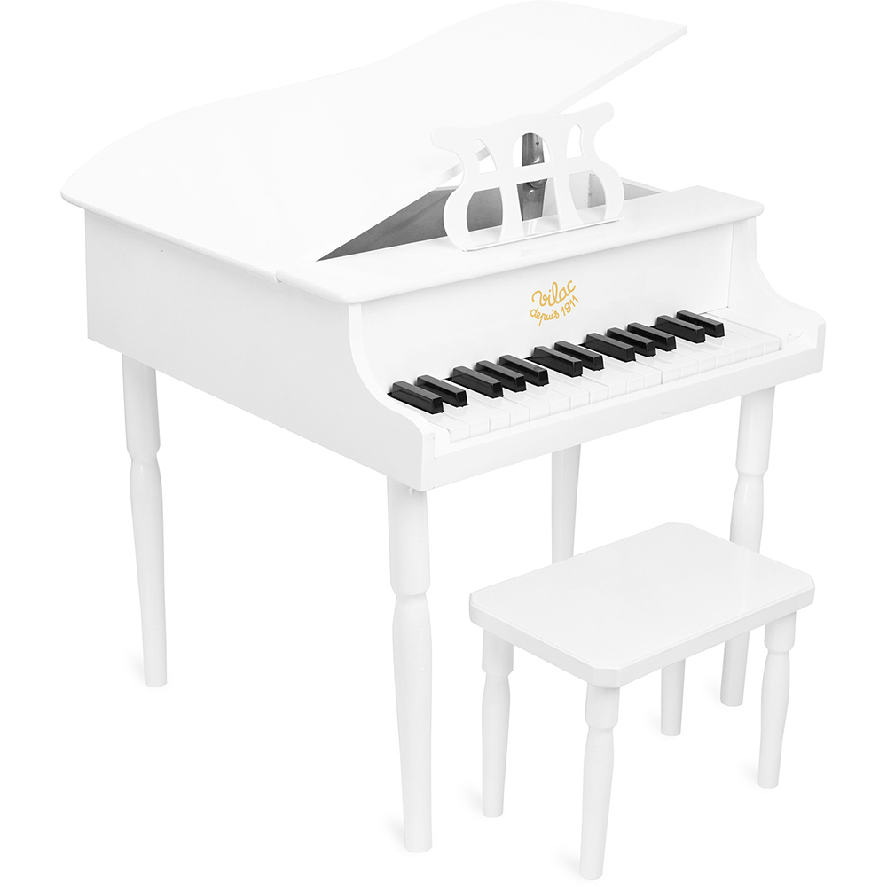 Vilac - White grand piano and stool (8361)