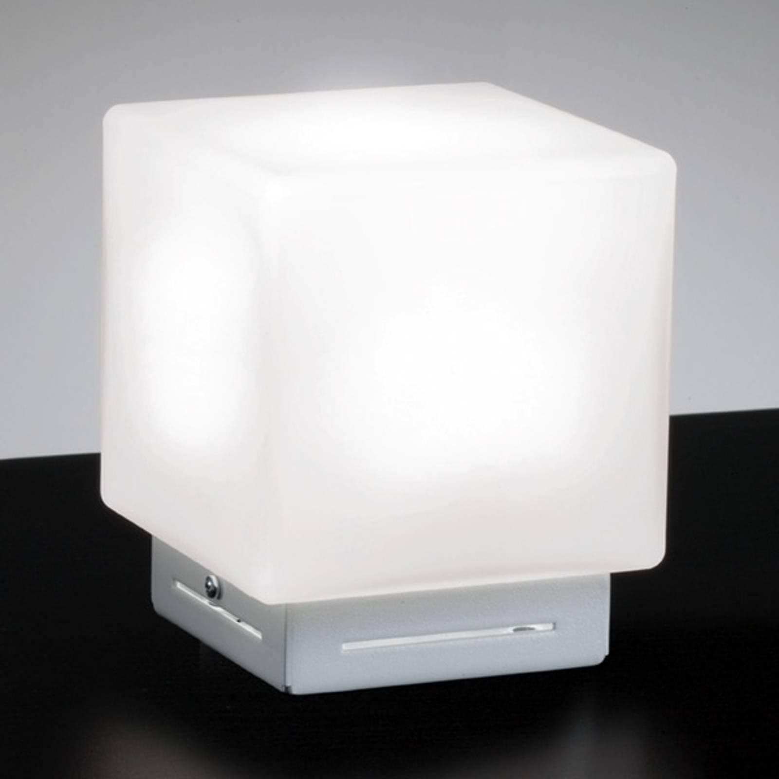 Cubis bordlampe i hvitt