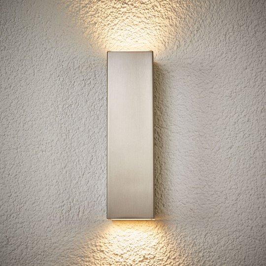 LED-utendørs vegglampe Jana av stål 25 x 7 cm