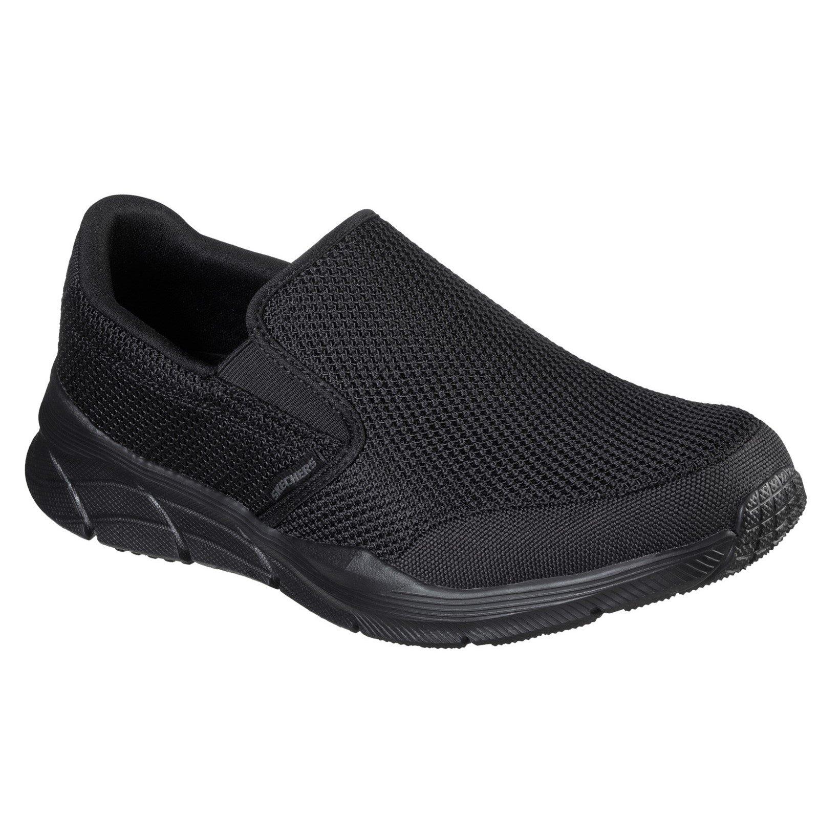 Skechers Men's Equalizer 4.0 Krimlin Wide Trainer Black 33073 - Black 9