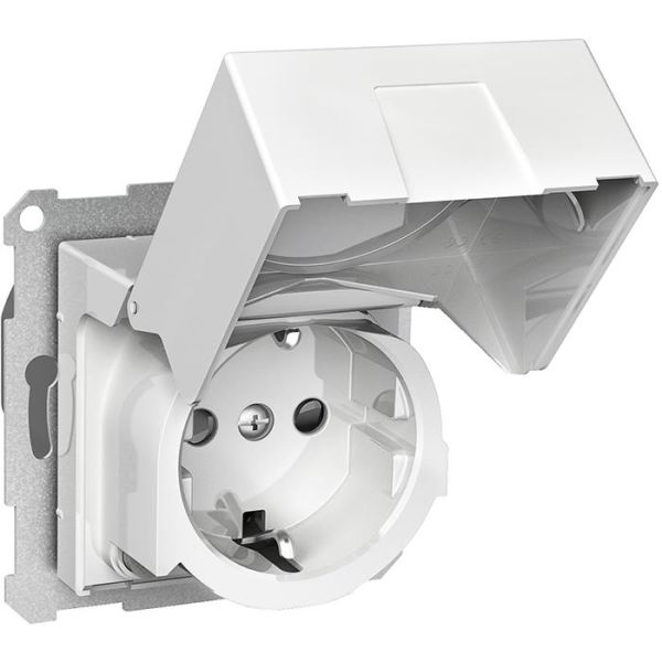 Schneider Electric Exxact WDE002324 Seinäpistorasia vikavirtasuojalla, maadoitettu, 1-osainen