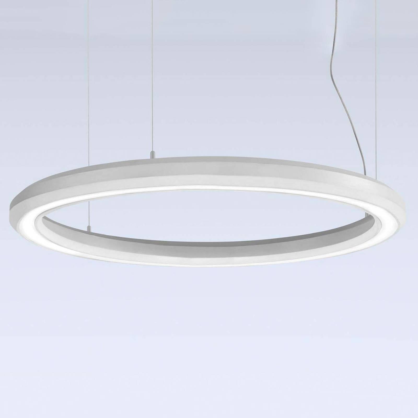 LED-riippuvalaisin Materica ala, Ø 90 cm valkoinen