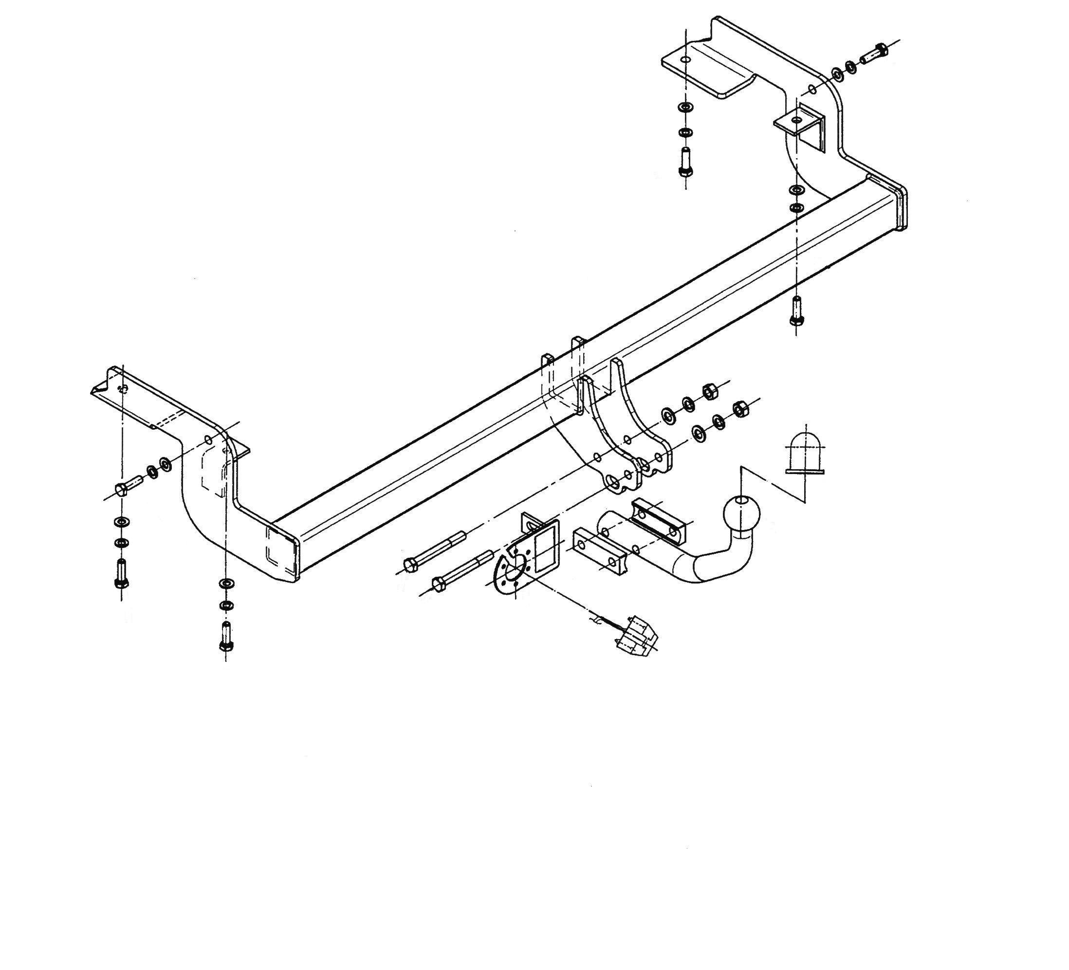 Vetokoukku STEINHOF STC-035 Citroen C5 '04-