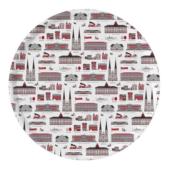 Citronelles - Houses of Uppsala Bricka 38 cm Röd