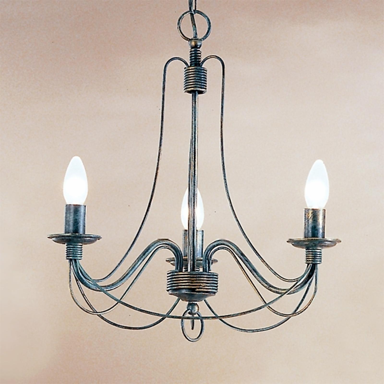 3-lamppuinen kattovalaisin CLARA maalaistyyliin