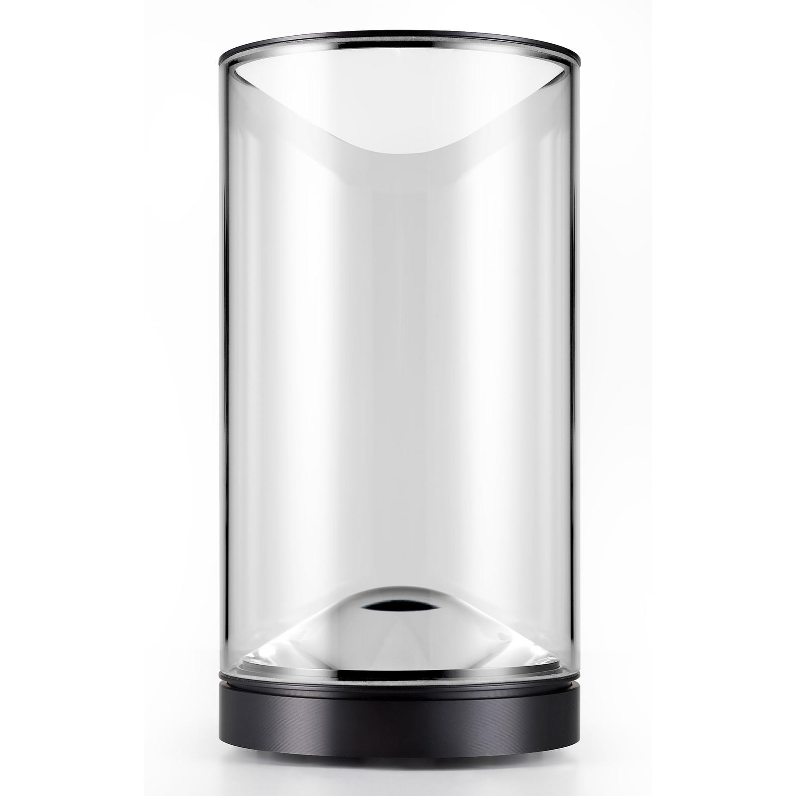 Lumina Eve-LED-pöytälamppu 3000K musta jalka Ø12cm