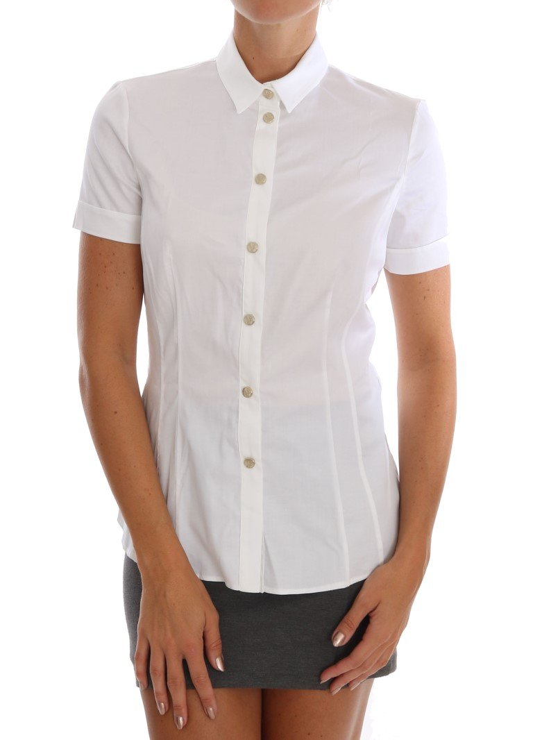 Versace Jeans Women's Shirt White TSH1472 - IT40 S