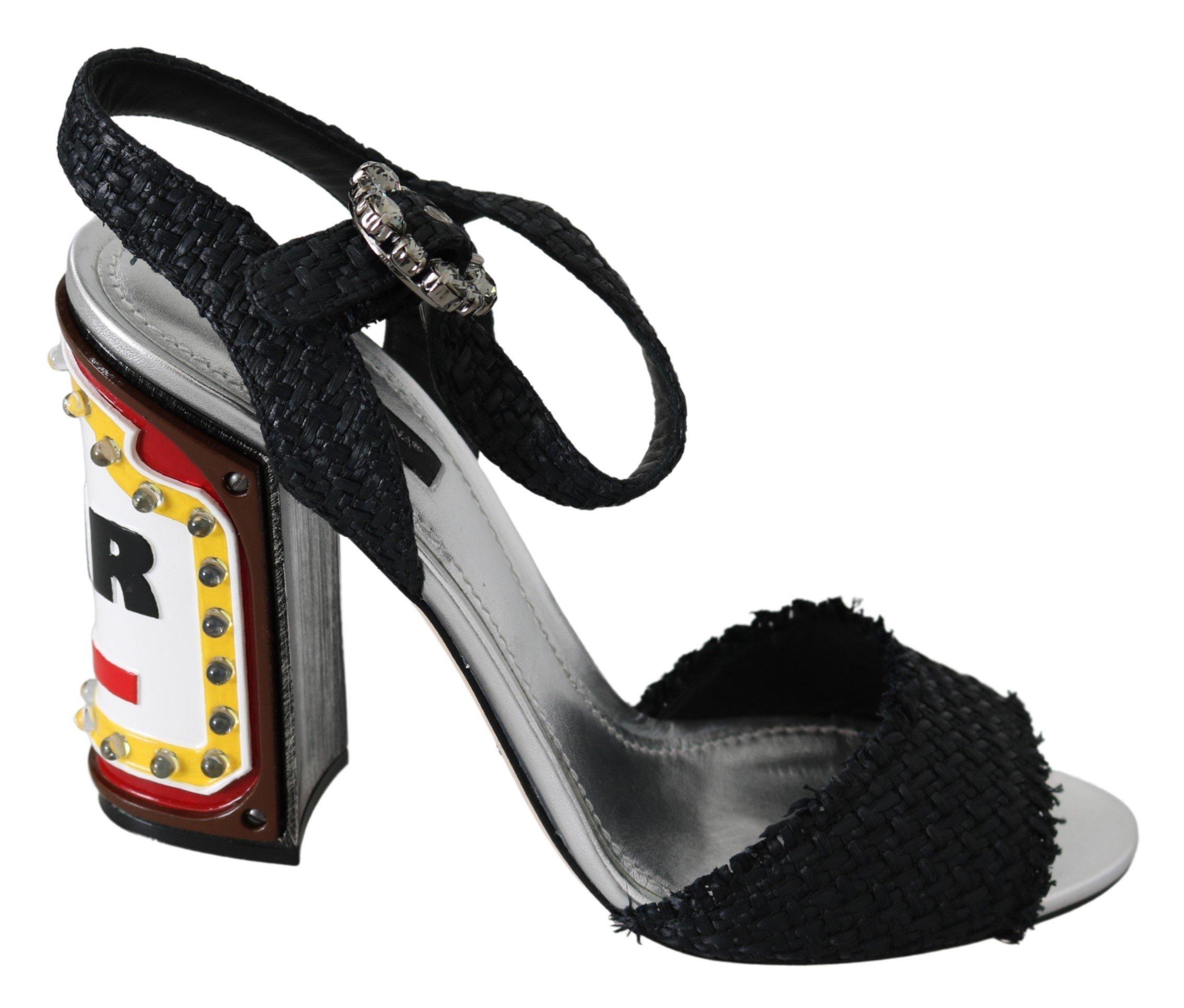 Dolce & Gabbana Women's Crystals LED LIGHTS Sandals Black LA7645-40 - EU37/US6.5