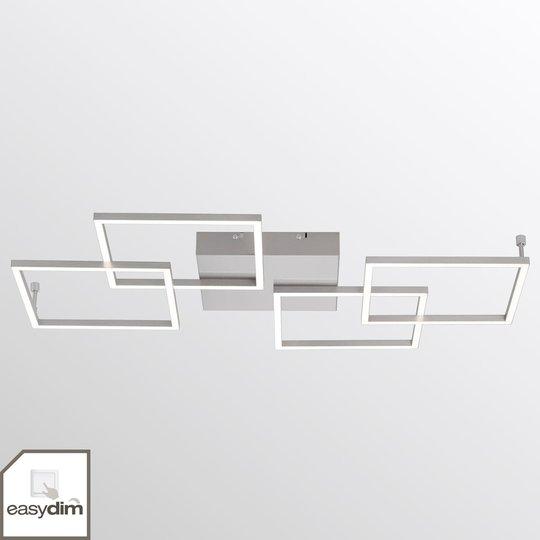 Nelilamppuinen LED-kattolamppu Inigo - pitkulainen
