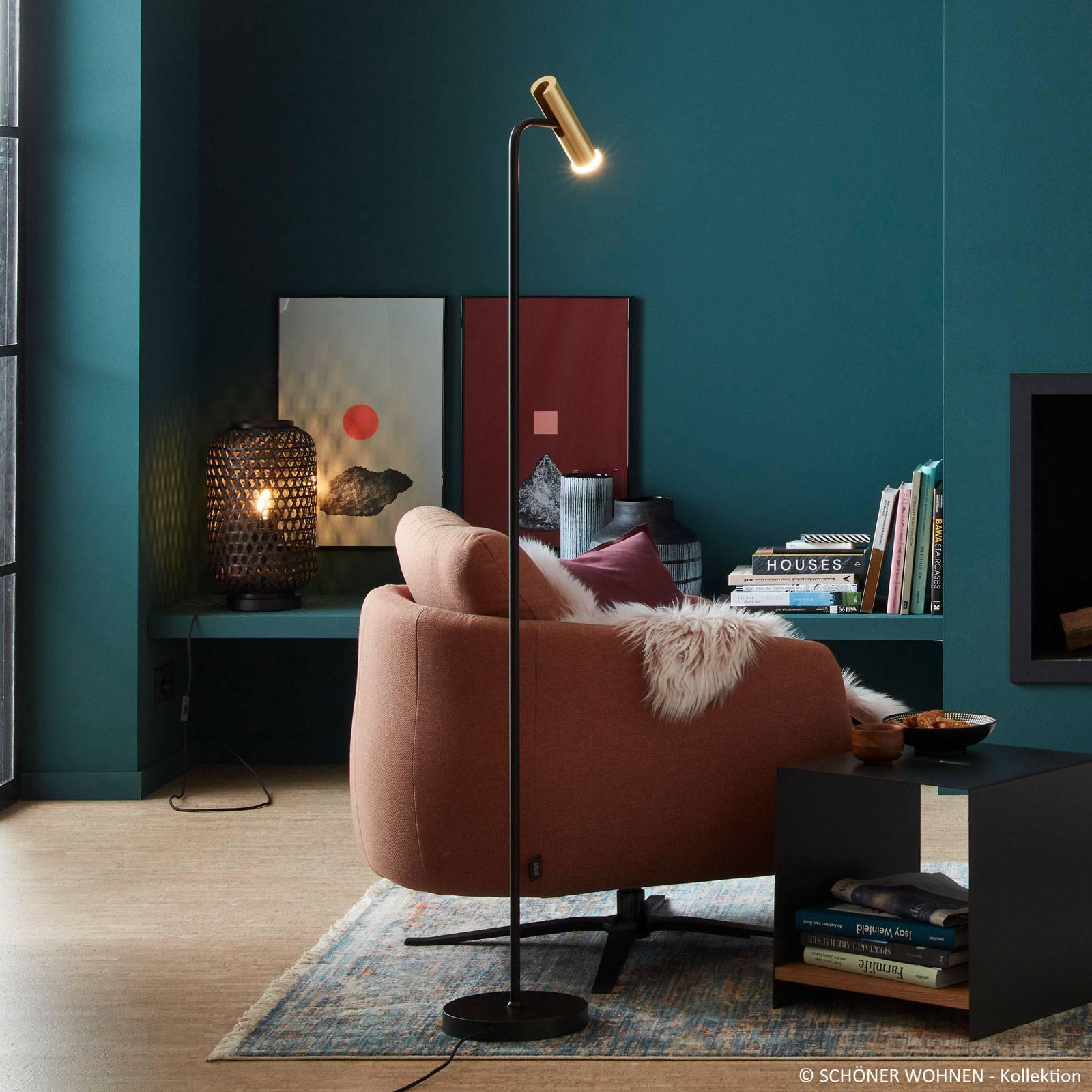 Schöner Wohnen Stina -LED-lattiavalo, kulta