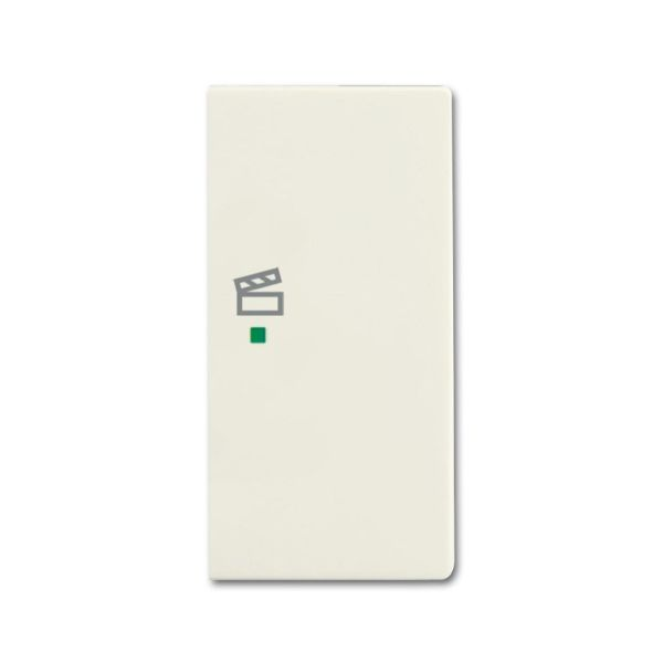 ABB Future Linear 6220-0-0596 Yksiosainen vipupainike tilanneohjaus, valkoinen Oikea