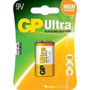 Batteri GP Alkaline Ultra 6LR61, 9 V