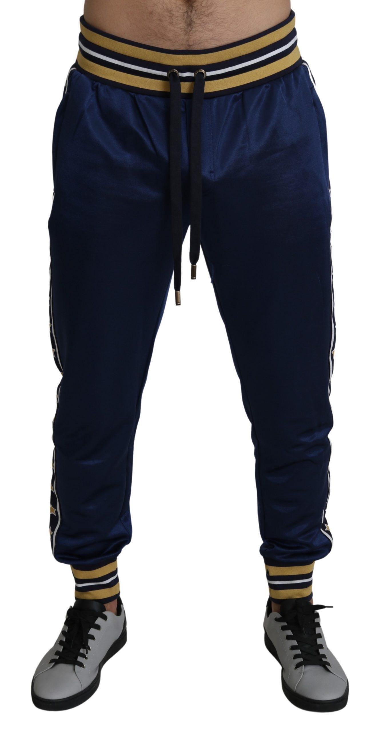 Dolce & Gabbana Men's Nylon Stars King Casual Trouser Blue PAN71395 - IT50 | L