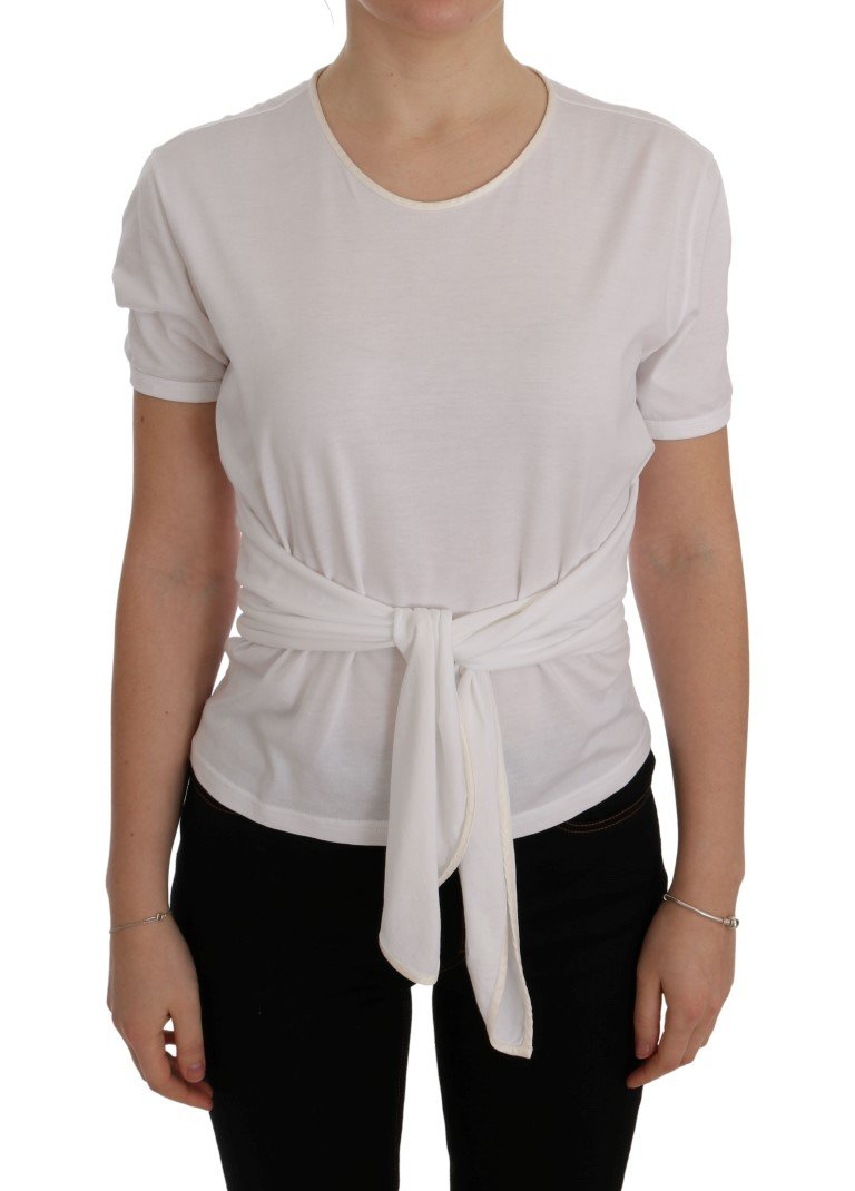 Dolce & Gabbana Women's Cotton Silk Top White SIG50480 - IT38|XS