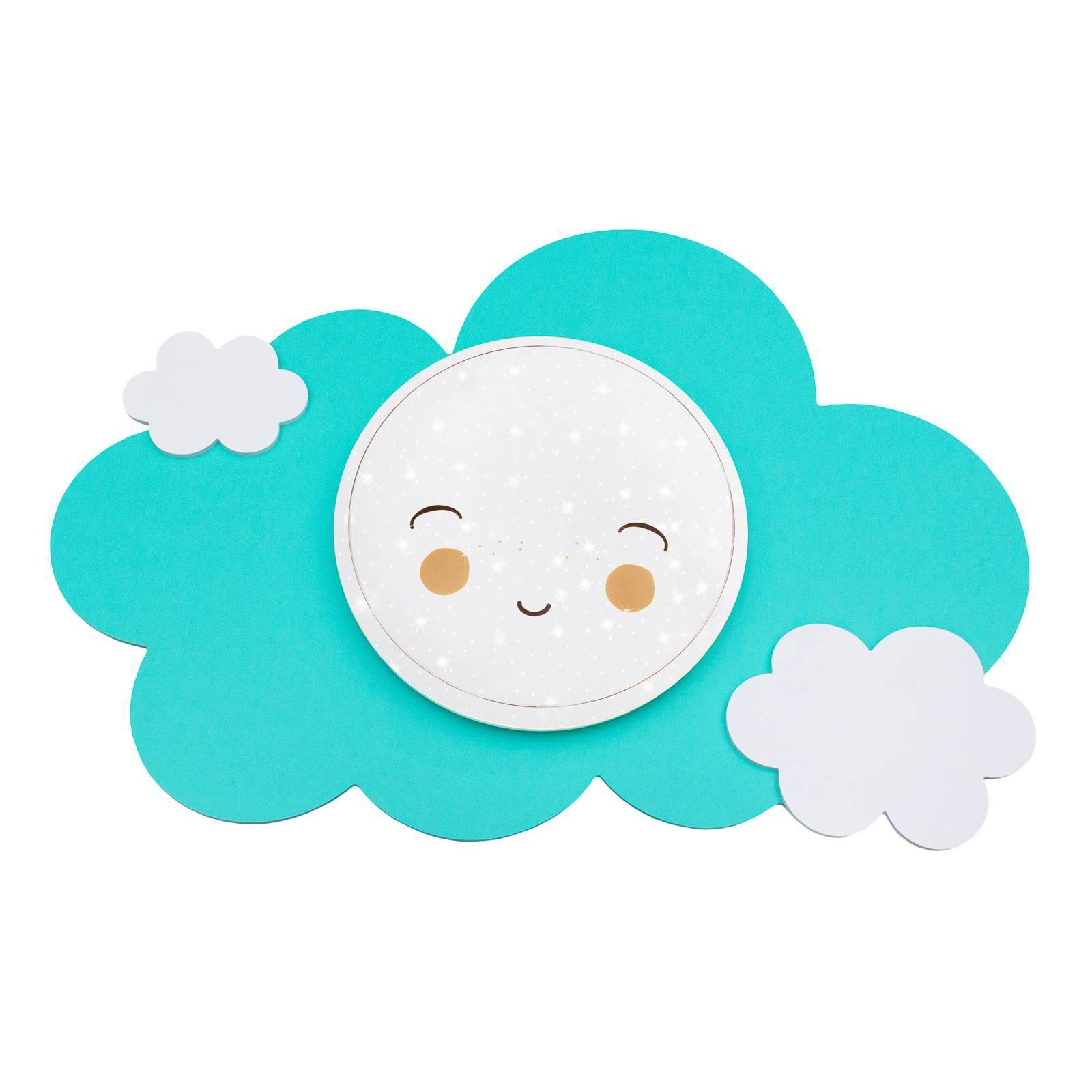 LED-vegglampe bildesky Starlight Smile, mint