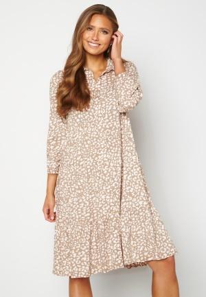 Happy Holly Elsie midi dress Beige / Offwhite 48/50