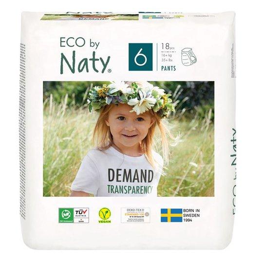 Naty Miljövänliga Blöjbyxor - Storlek 6 (16+ kg), 18 st