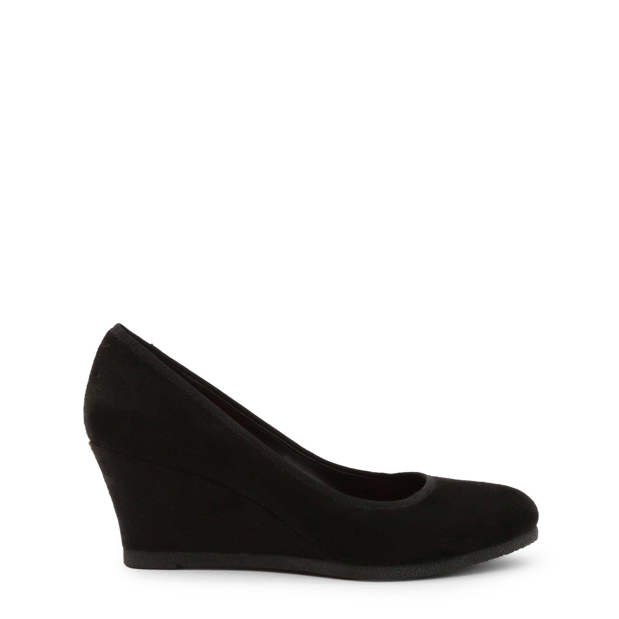 Roccobarocco Women's Wedges Shoe Brown 342946 - black EU 37