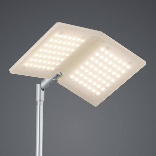 BANKAMP Book LED-gulvlampe, matt nikkel