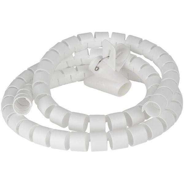 Gelia 4000014351 Kaapelikerääjä 1,5 m x 25 mm, valkoinen