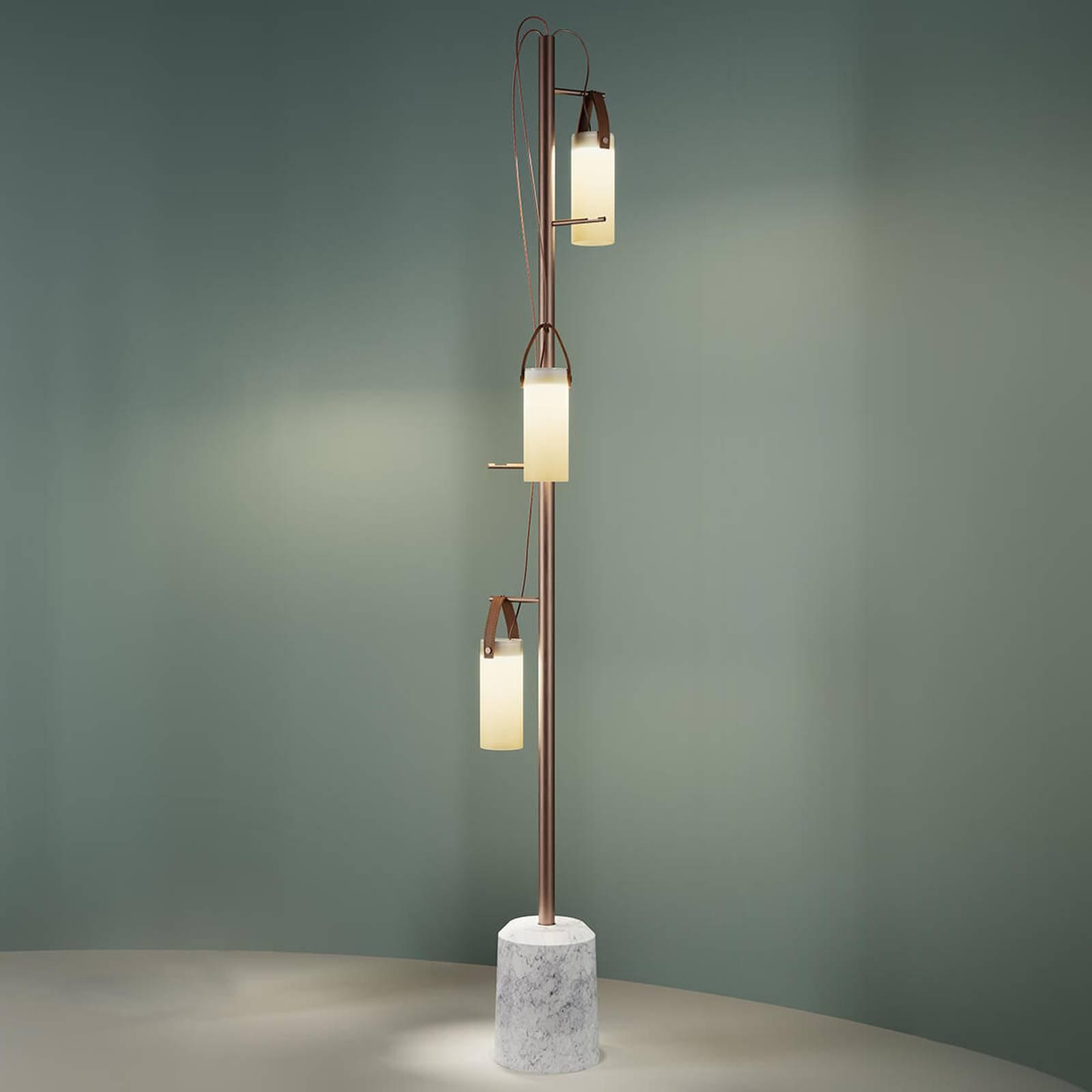 3 lyskilder designer LED gulvlampe Galerie