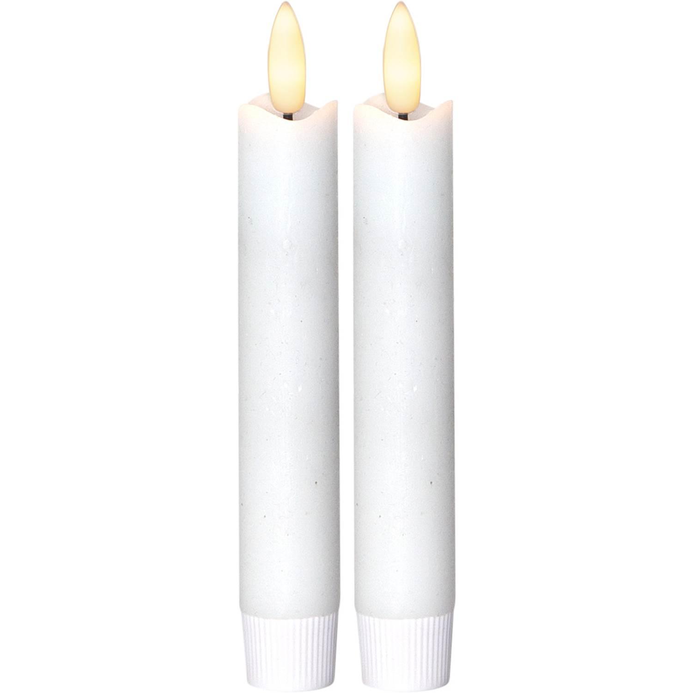 Star Trading 063-29 LED Flamme Vit 2Ljus