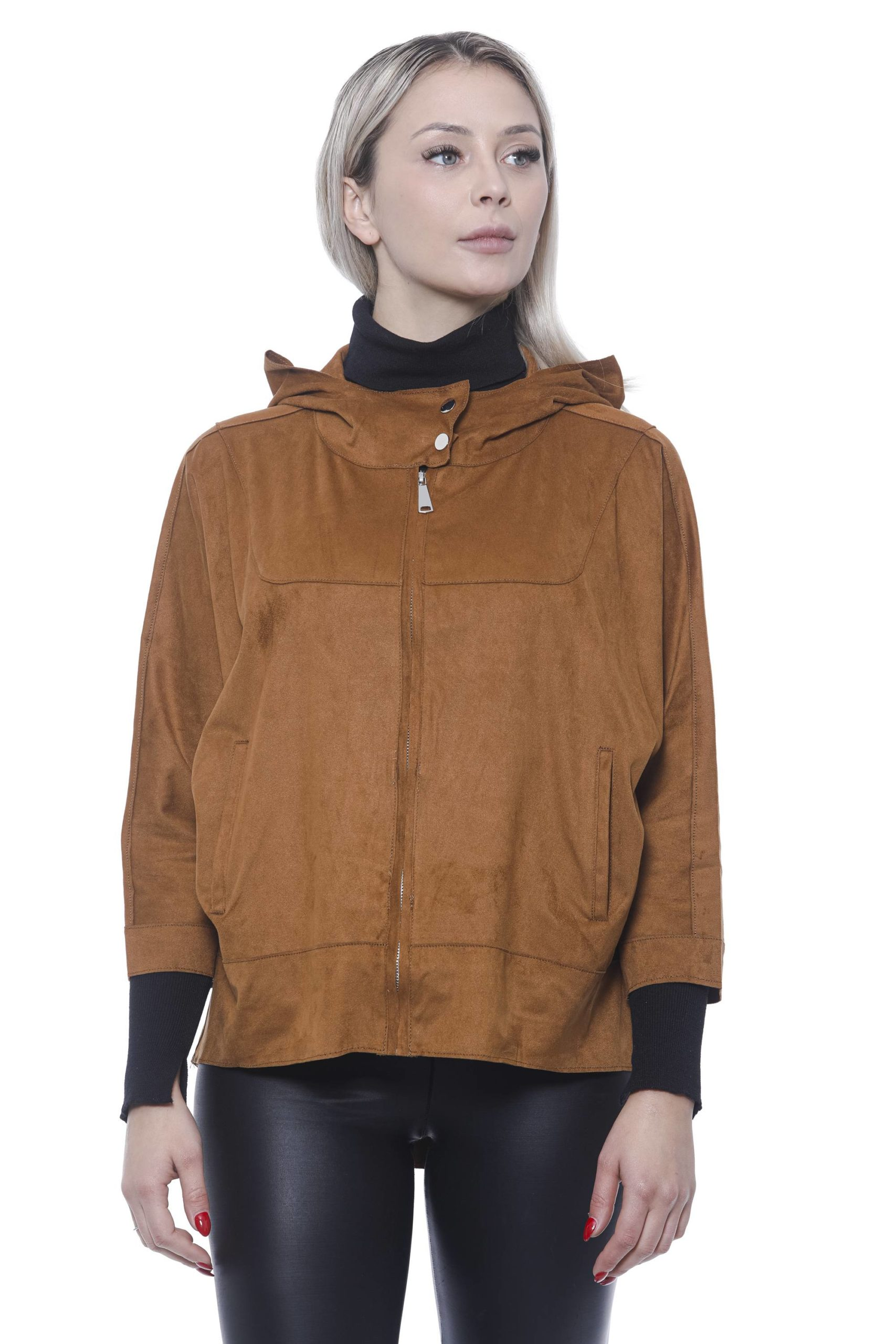 19V69 Italia Women's Cuoio Cuir Jacket 191388479 - IT42   S