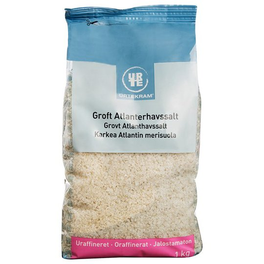 Urtekram Food Grovt Atlanthavssalt Oraffinerat, 1 kg