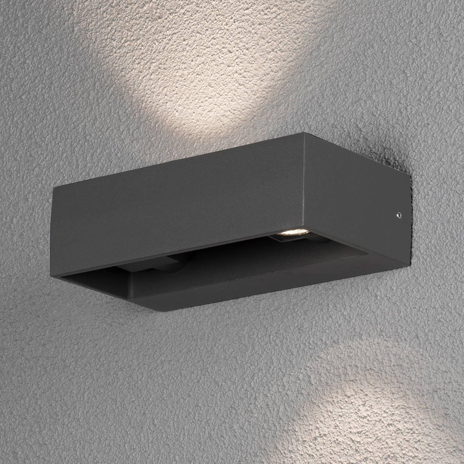 LED-ulkoseinälamppu Monza, antrasiitti