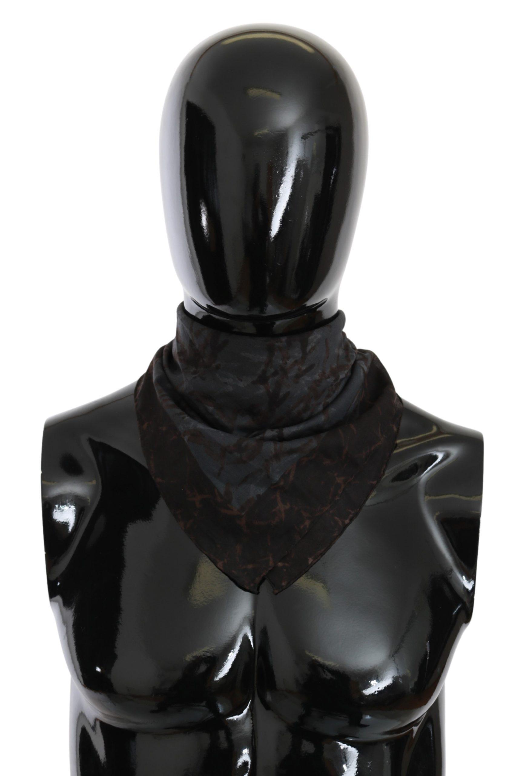 John Galliano Women's Bandana Cotton Scarf Black MS1632