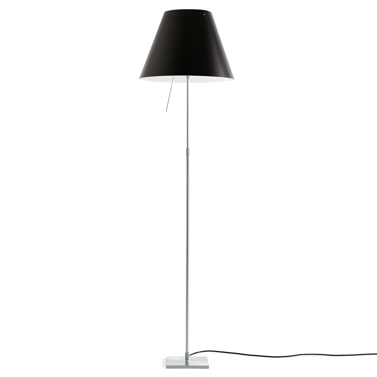 Luceplan Costanza gulvlampe D13ti, alu/svart