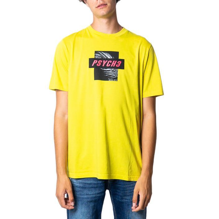 Diesel Men's T-Shirt Various Colours 175468 - yellow S