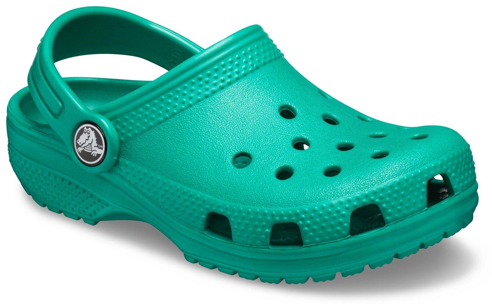 Crocs Kid's Classic Slip On Clog Sandal Various Colours 31493 - Deep Green 2