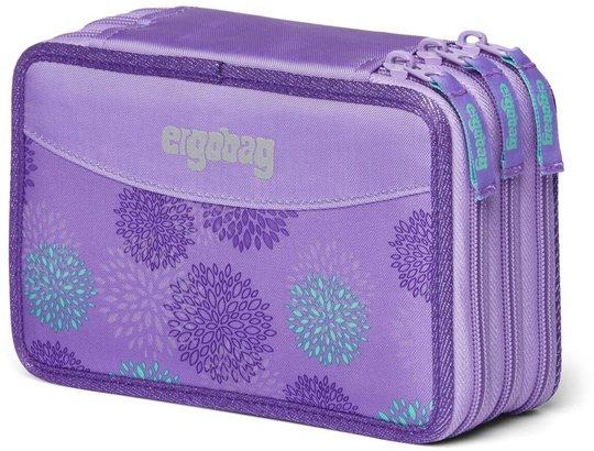 Ergobag SleighBear Glow Pennal Trippel, Purple Ice Flowers