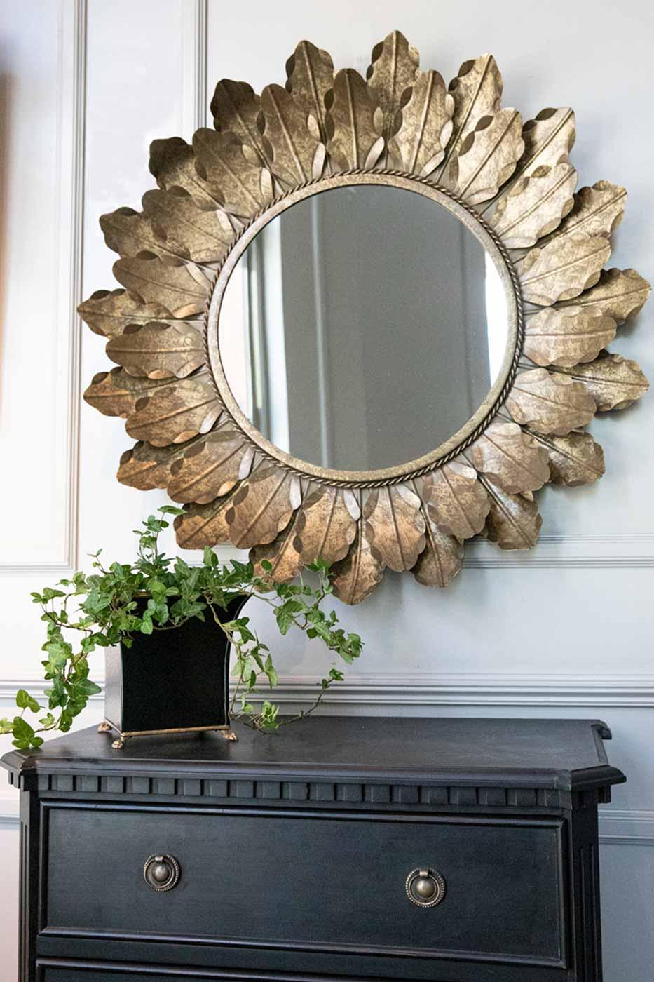 Spegel Eklöv rund 79 cm
