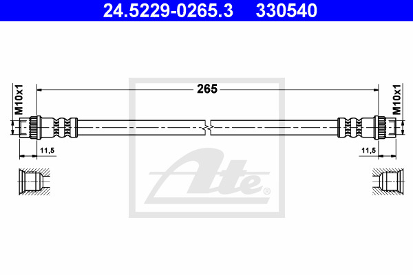 Jarruletku ATE 24.5229-0265.3