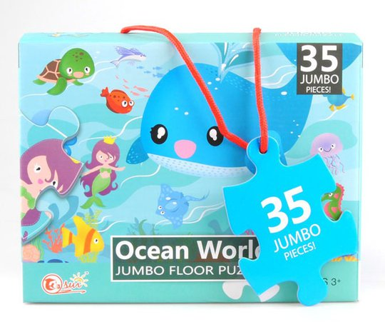 Suntoy Jumbo Ocean Puslespill 35 Brikker