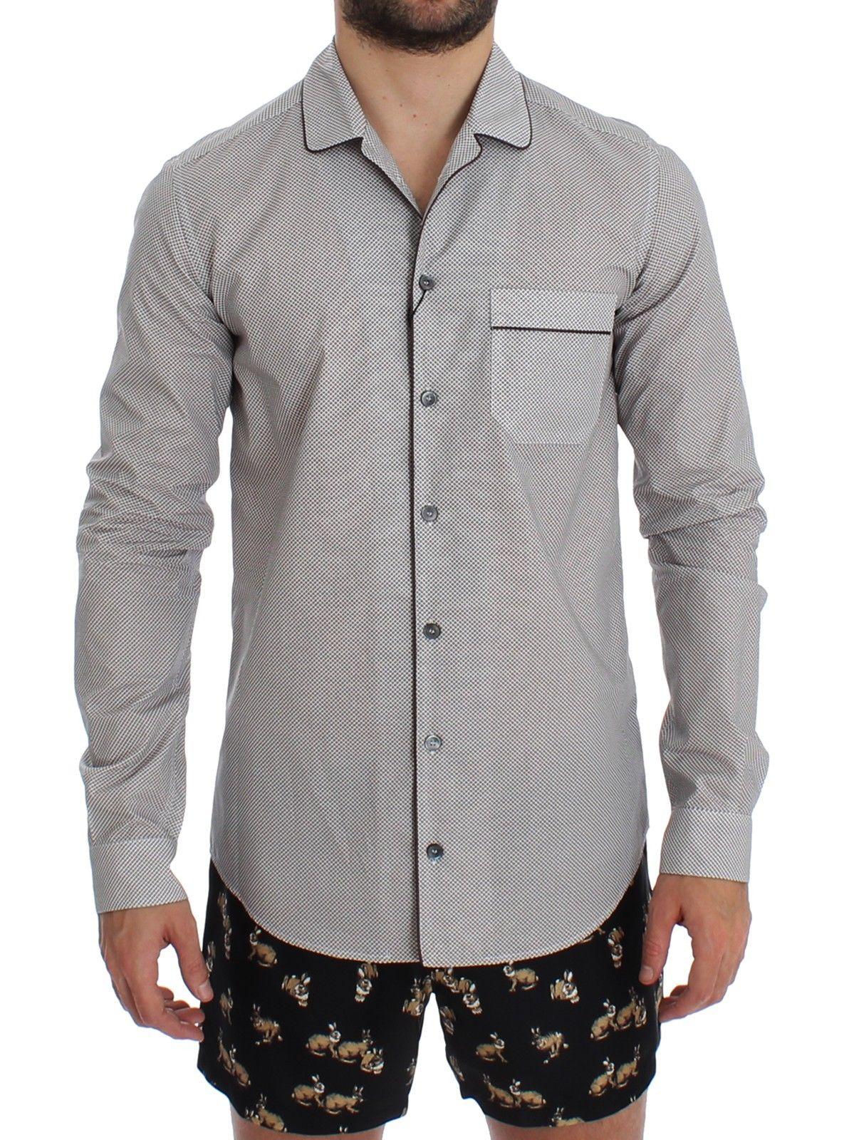 Dolce & Gabbana Men's Cotton Pajama Shirt White SIG12391 - S