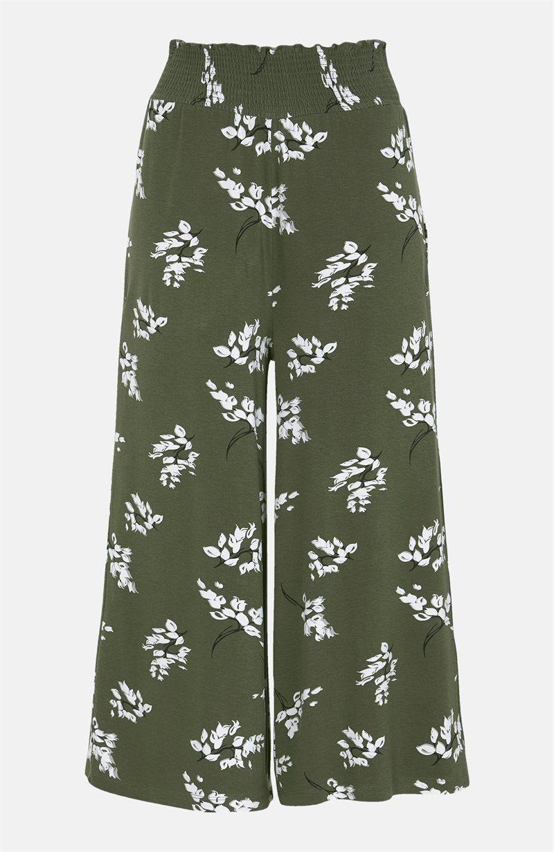 Kuvioidut culottehousut trikoota