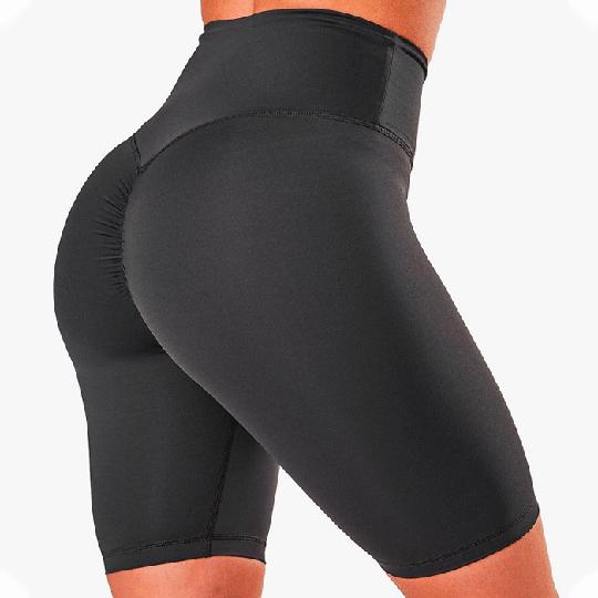 Scrunch V-Shape Biker Shorts, Anthracite