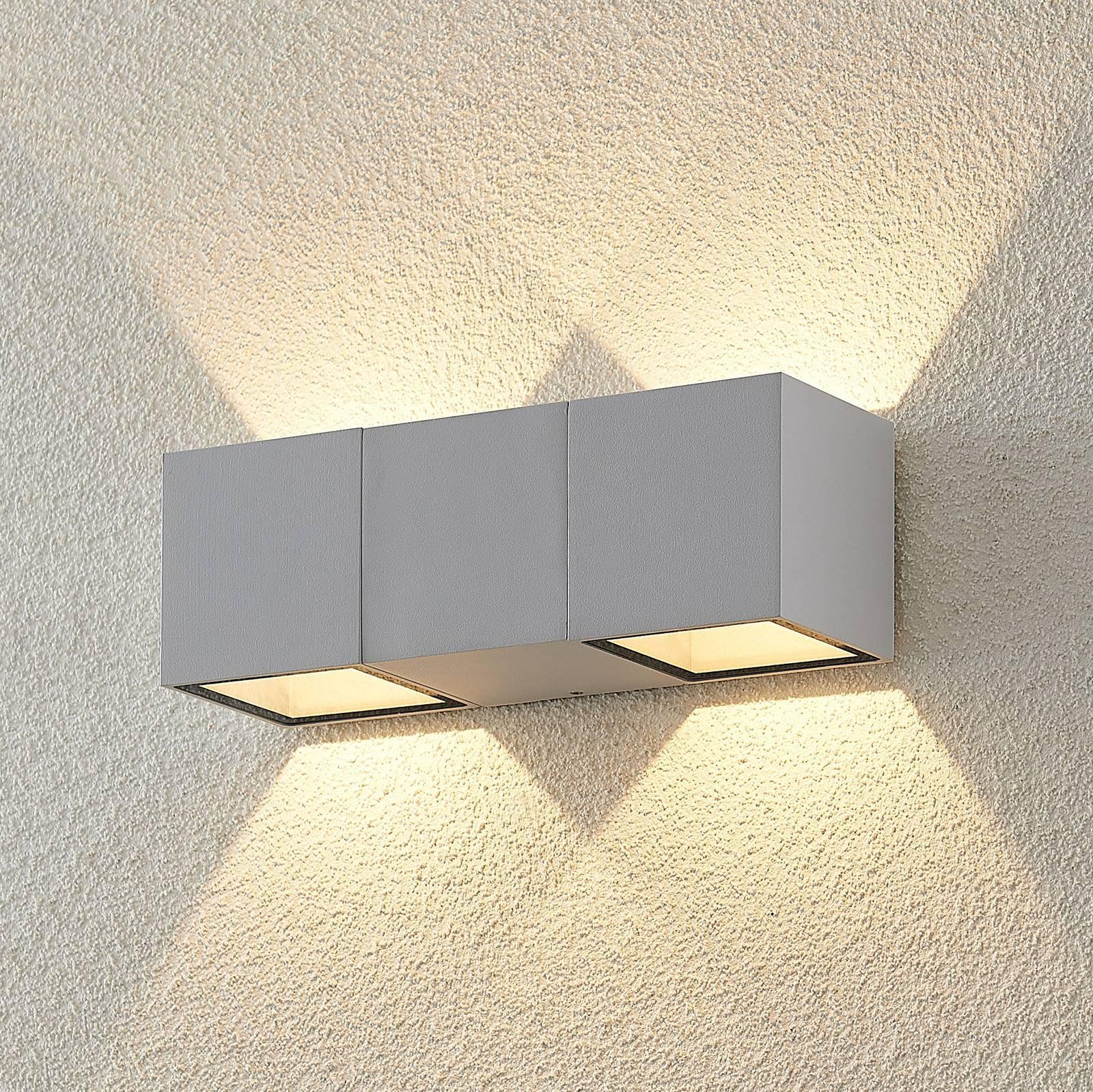 ELC Vanda utendørs LED-vegglampe, hvit